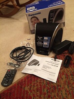 Panasonic SC-SP100 iPhone Dock Compact Stereo System With Remote Dock Stereo System