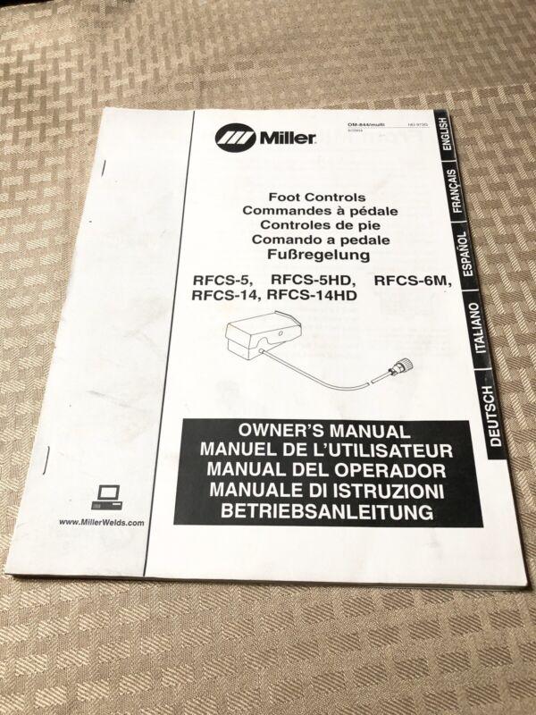 MILLER Foot Controls RFCS-5, RFCS-5HD, RFCS-6M, RFCS-14 Owner's Manual