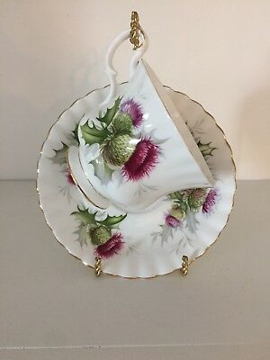 Royal Albert Highland Thistle Cup and Saucer Vintage Bone China Scotland