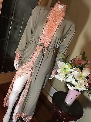 Fancy Khaleeji Abaya Arabic Button Up Half Open Jilbab Dubai Made Size L 58