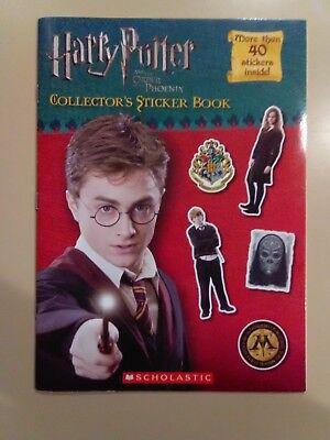 2007 Original Harry Potter ~ Order Of The Phoenix ~ Collector Sticker Book