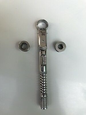 Universal Dental Implant Torque Wrench Ratchet 10-40 Ncm 6.35mm Hex 4.0mm