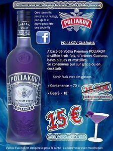 VODKA guarana - France - État : Neuf: Objet neuf et intact, n'ayant jamais servi, non ouvert. Consulter l'annonce du vendeur pour avoir plus de détails. ... Marque: POLIAKOV Volume (Litres): 0,75 Type: Vodka Vinification: VIOLETTE - France