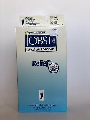 NEW Jobst Relief Thigh High Compression Stockings 15-20 mmHg Many Sizes & Colors 15 Mmhg Thigh High