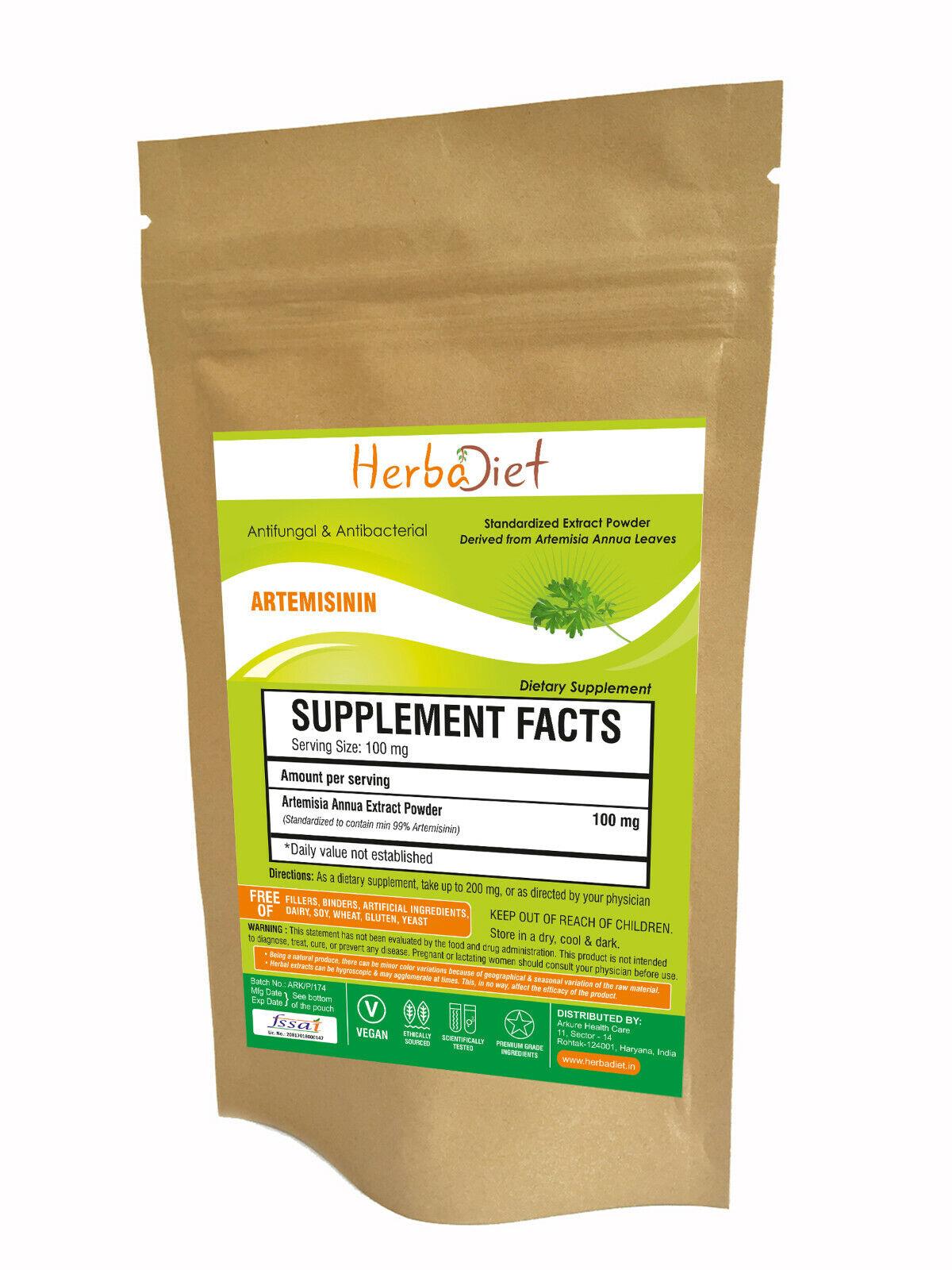 Artemisia Annua Extract 99% ARTEMISININ Powder POTENT Antibacterial Antifungal