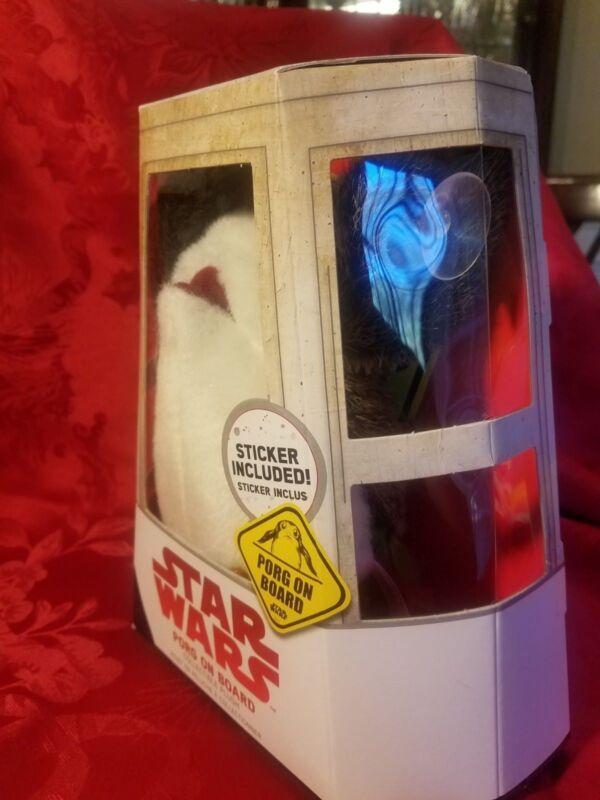 Star Wars The Last Jedi Porg on Board Figure Suction Cup Plush w// Sticker New!