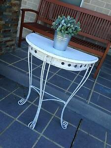 Upcycled Shabby Chic French Provincial Distressed Hall Side Table Camden Camden Area Preview