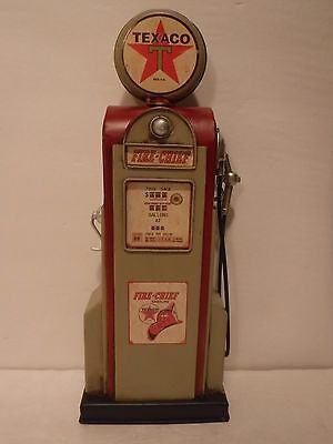 Vintage Looking Fire Chief Texaco Metal Gas Pump Man Cave Garage Home Decor-New