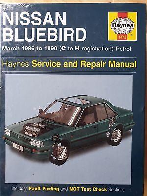 1473 Nissan Bluebird 1986 -1990 Petrol Haynes Service and Repair Manual