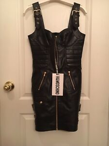 Moschino x H&M Bella Hadid leather dress! Rare, limited edition