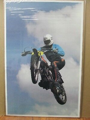 Vintage Moto Dirt Bike motorcycle Flying Cycle 1972 Motocross in#G1897