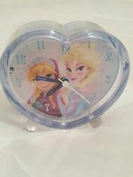 Disney Princess Frozen  Heart Alarm Clock  Elsa & Anna girls clock toy