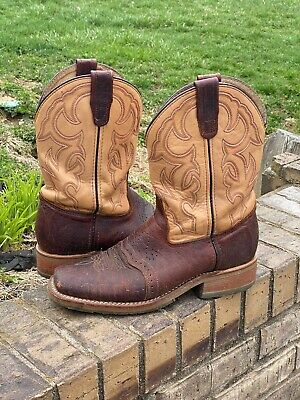 Men's Double H Bison Square Toe Ice Roper Cowboy Boots - DH4305 10 D