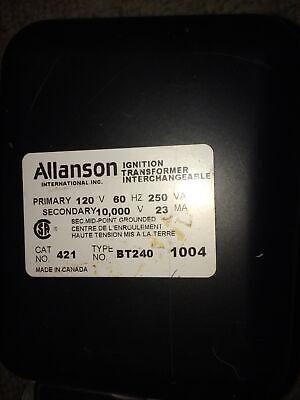 Allanson Ignition Transformer Interchangeable Oil Heavy Clean.
