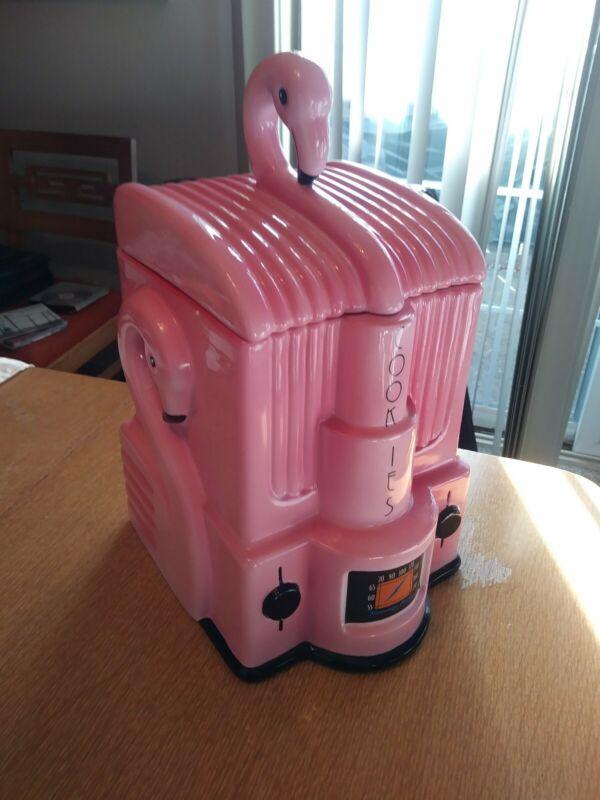 1998 Vandors Flamingo Radio Cookie Jar.In Very Good Condition.