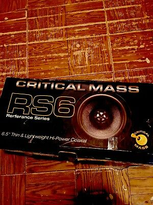 6 1/2CRITICAL MASS SPEAKERS RS6 Best speakers