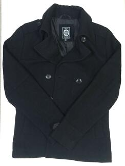 Roger David Wool Men Jacket Coat Black XS