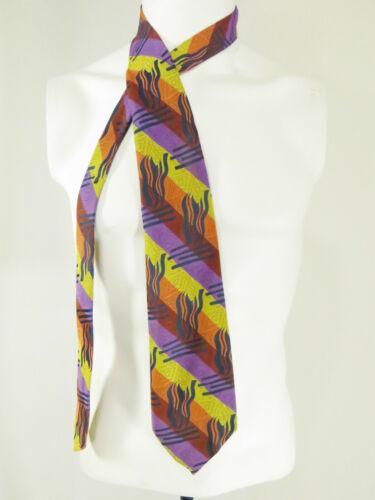 1970s Necktie Wide Polyester Tie Vintage