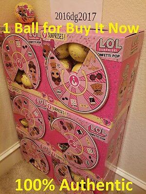 Series 3 L O L  Surprise Confetti Pop Authentic Doll 9 Layers Ball Lol  In Hand