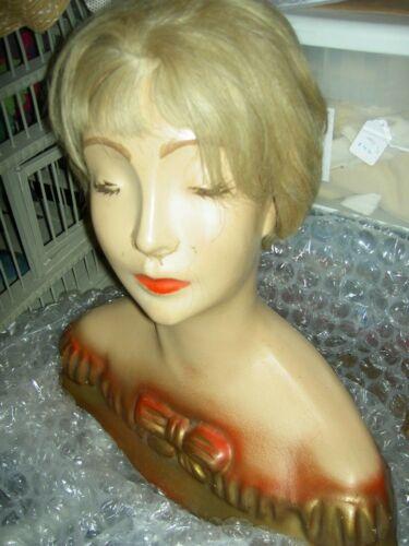 Rare antique sgnd Lamoureux NYC, store countertop advertising BOUDOIR mannequin