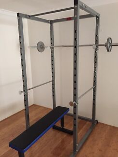 New Power and Squat Rack plus 7 Foot Olympic  Bar + Collars