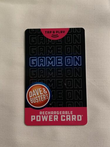 20 Dave And Buster s Rechargeable Power Card 115 Chips 408 Tickets - $15.99