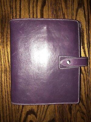 Filofax Malden Vintage Purple A5 Size Leather Organizer Agenda Calendar Planner