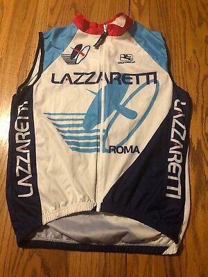 Giordana Lazzaretti  Roma Italian Men's Cycling Wind Vest Small 2-46cm Rare Find