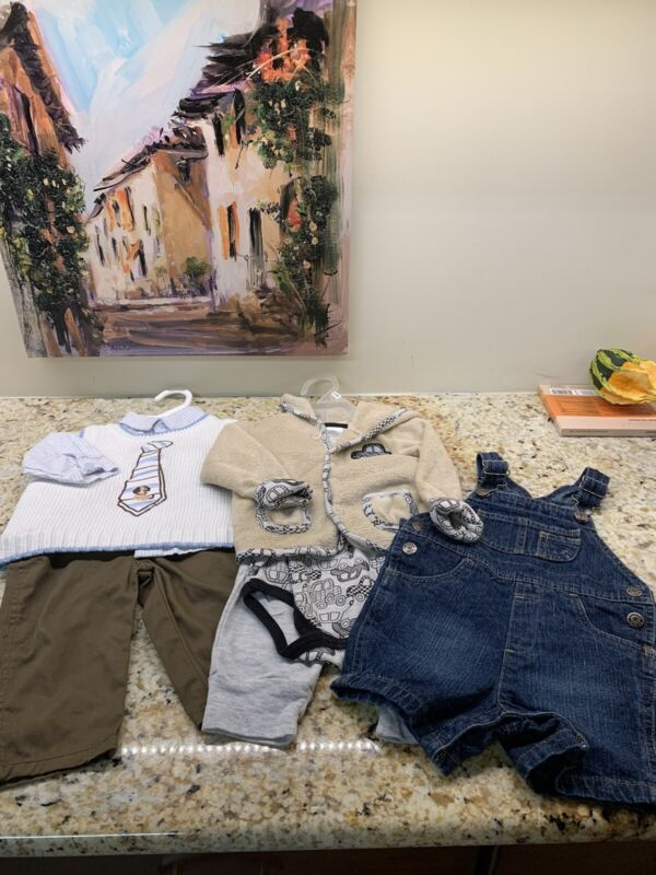 Baby Boys Clothing Fall/ Winter Lot Size 6-9 Months 2 3 Piece Outfits, Shortalls