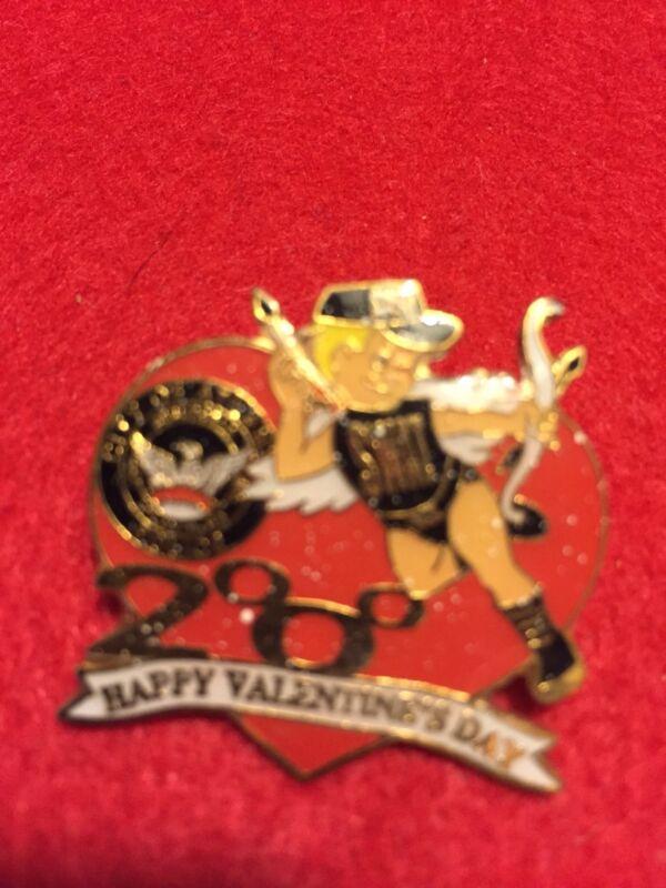 Vintage Atlanta 2000 Swat Happy Valentine Pin Cat 14