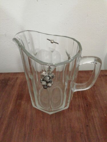 Caraffa brocca in vetro per acqua vino vintage 1 lt tavola casa bar caraffe