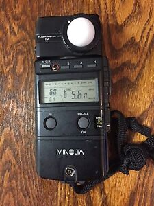 Minolta Flash Meter IV. Camera flash meter.