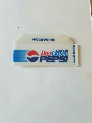 Diet Crystal Clear Pepsi soda vending machine plastic tag - 1 -