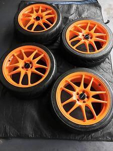 """18"""" Rota Torque Rims Toyo R888 Tyres WRX LIBERTY FORESTER STI Watanobbi Wyong Area Preview"""