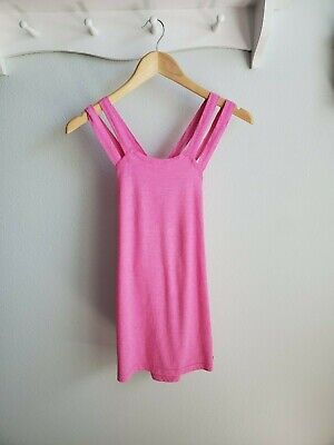 Fabletics pink criss cross strappy tank top S