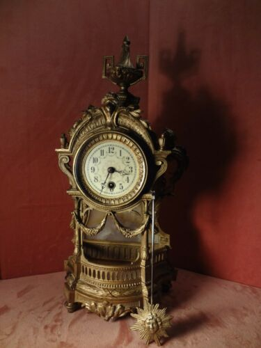 A Really Nice Lenskirch Time Only Louis 14th Style Clock Circa 1870 8 Day