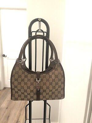 Authentic GUCCI vintage Jackie O handbag bag - Beige, Pre Owned