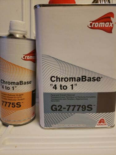 Cromax ChromaBase 4 to 1 G2-7779s panel and overall Clear Kit w/7775s
