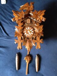 Brand New Traditional Eight Day Black Forest Cuckoo Clock