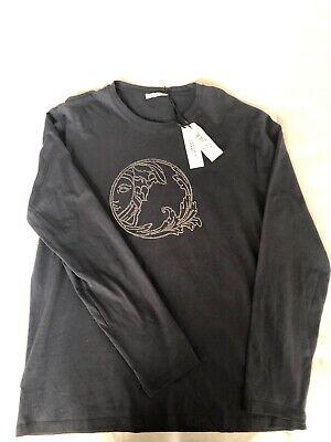 VERSACE Collection Blue Graphic T-Shirt Mens XXL Authentic Designer $290