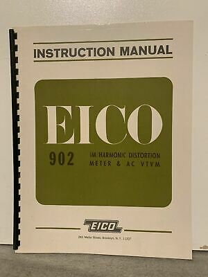 Orignal Eico 902 Harmonic Distortion Meter Ac Vtvm Instruction Manual