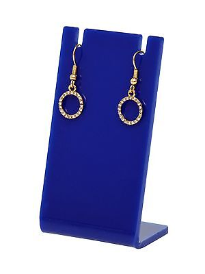 Earring Necklace Display Jewelry Blue Acrylic Stand Holder Earing Qty 12