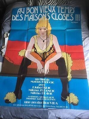 """Affiche Film """" AU BON VIEUX TEMPS DES MAISONS CLOSES  """" 1975 - 120x160"""