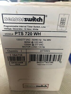 Sensorswitch Programmable Interval Timer Switch Pts-720-wh