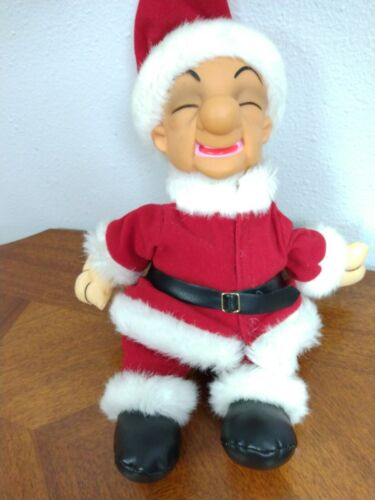"Mr. Magoo Santa Claus Plush 14"" Christmas Red Suit Hat Scrooge"