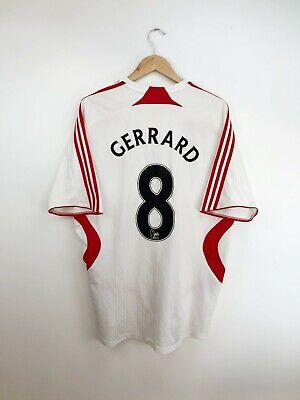 Gerrard #8 Liverpool Football Away Shirt Jersey 2007-2008 Adidas Adults XL image