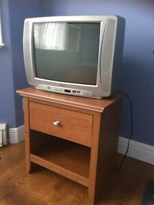 FOR SALE - TV and Night Stand  $25 for both
