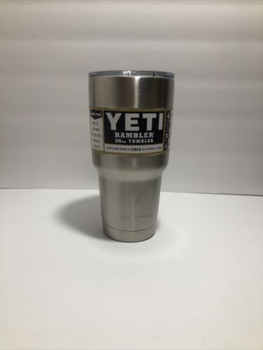 YETI 30oz Rambler Tumbler Stainless Steel Tumbler Cup with L