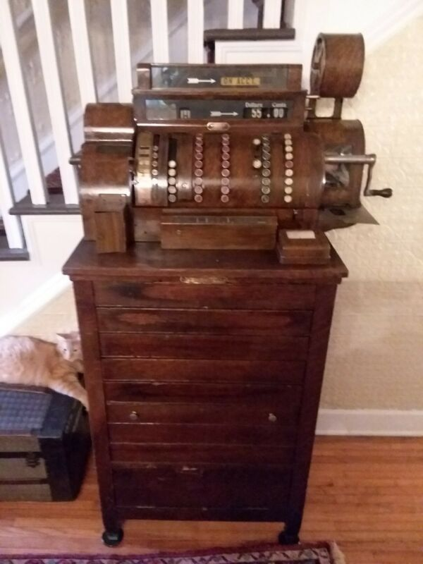 Antique national cash register 900 series model 992