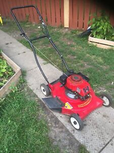Champion 4 hp side discharge mower